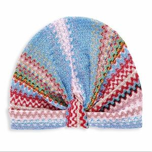 Missoni zig zag printed turban hat